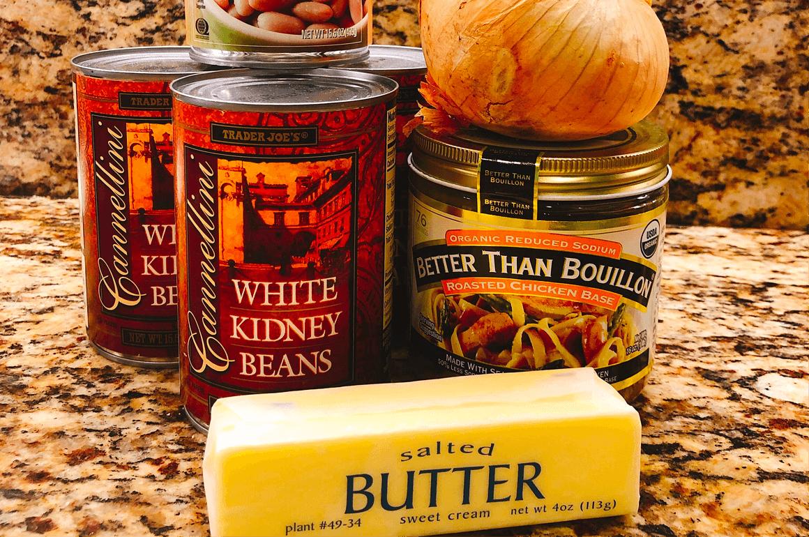 Almost Vegetarian White Bean Soup Ingredients-1