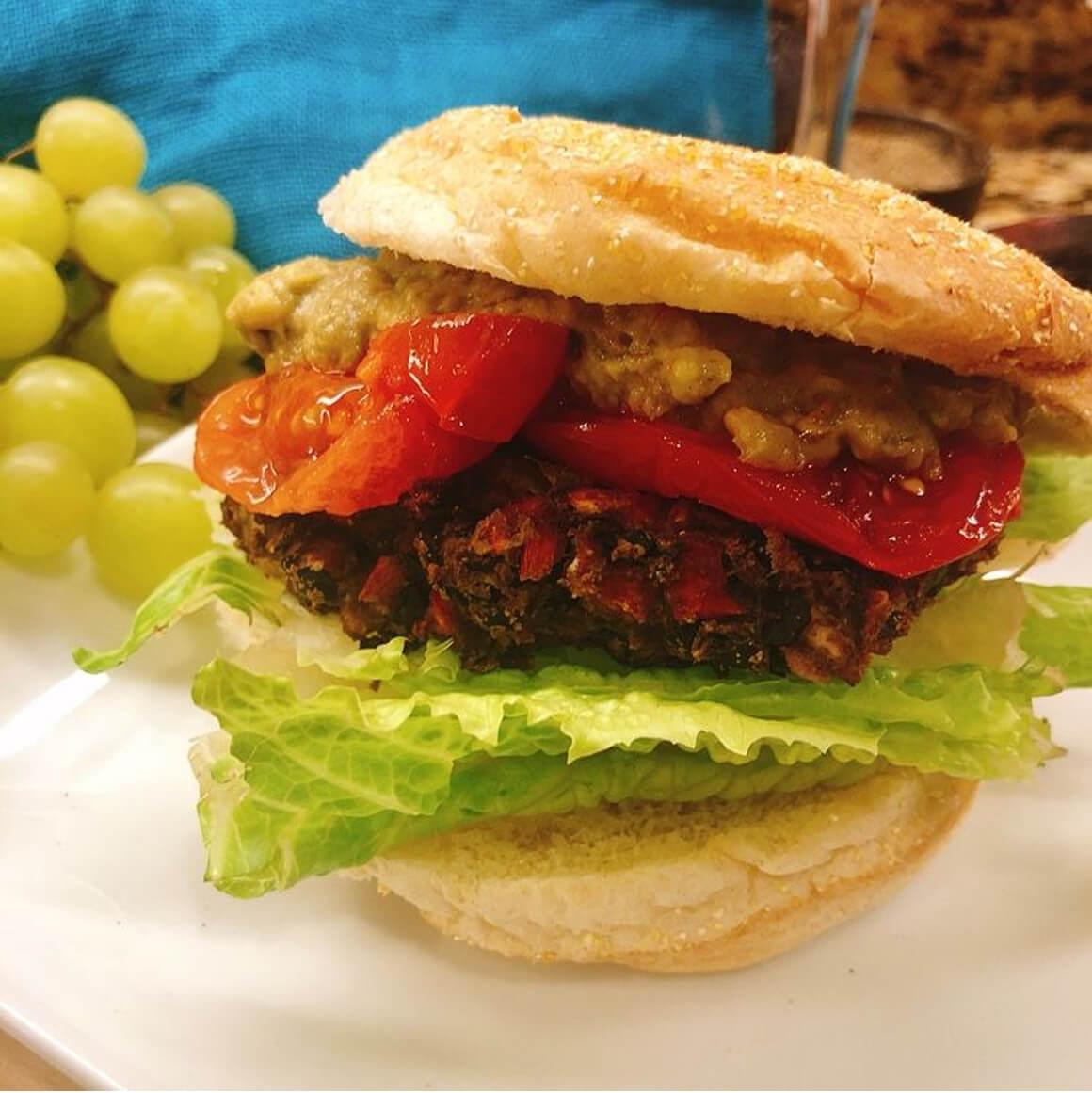 The Meatlover's Black Bean Burger
