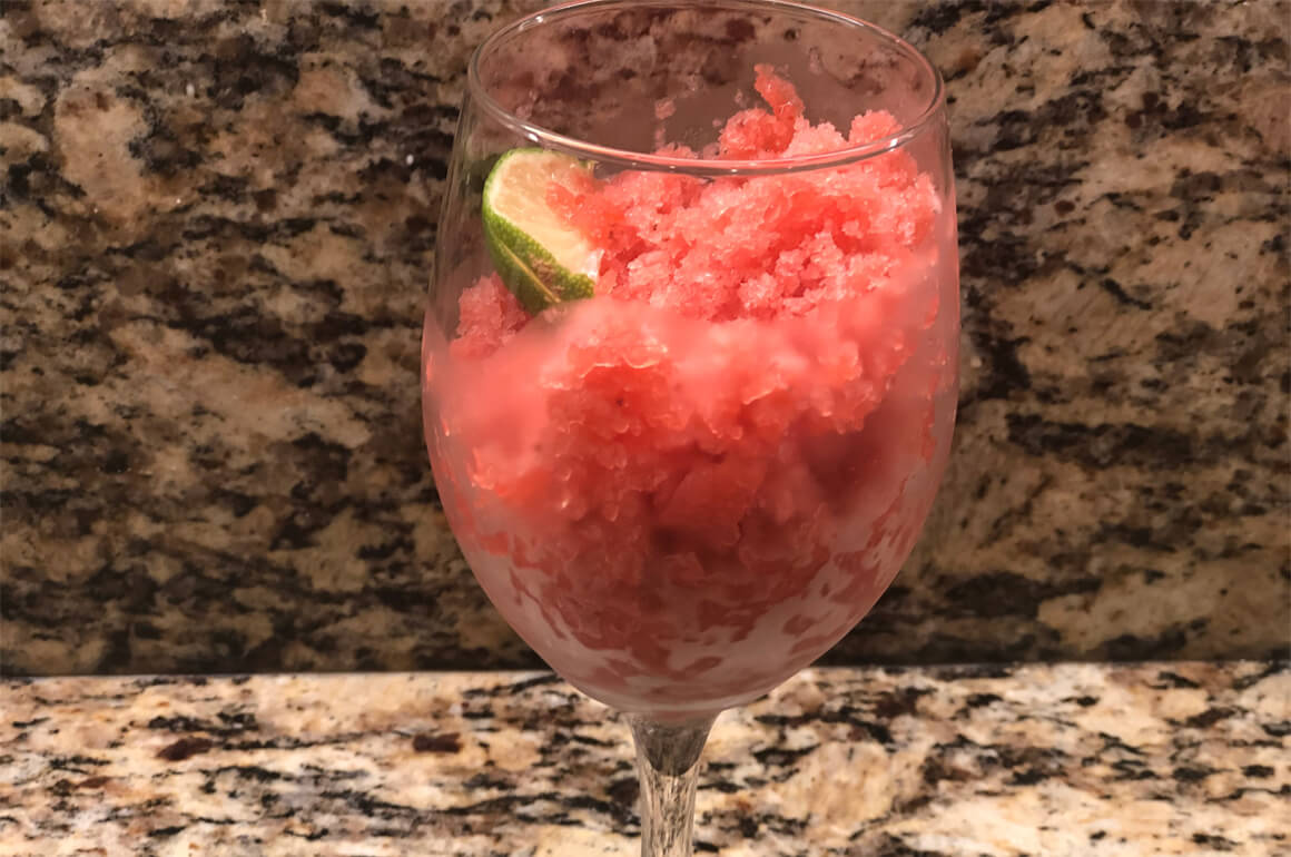 Easiest Strawberry Watermelon Granita